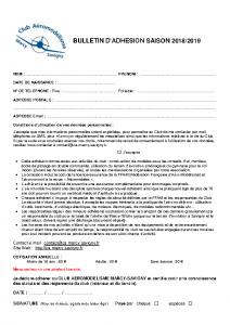 BulletinAdhesion 2018-2019