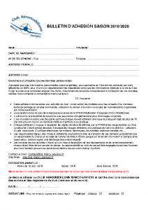 BulletinAdhesion 2019-2020