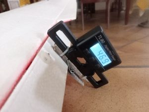 Figure 12 : mesure d'angle de débattement d'un volet